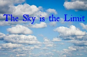 sky is the limit-text